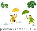 雨衣 儿童 孩子 46993132