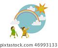 雨衣 儿童 孩子 46993133