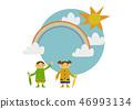 雨衣 儿童 孩子 46993134