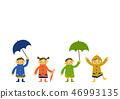 雨衣 儿童 孩子 46993135