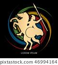 骑马 商标 侧影 46994164