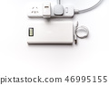 white socket plug electric power bank and wire 46995155