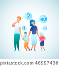 Flat Illustration Parent Appeal for Help Doctor 46997436