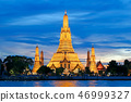 Wat Arun Ratchawararam Temple of Dawn at sunset 46999327