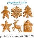 Gingerbread cookies illustrations set 47002079