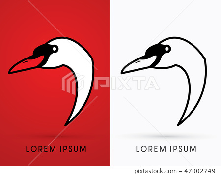 Head Swan Side View graphic vector 47002749