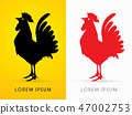 Cock standing shape graphic vector. 47002753