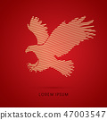 Eagle flying attack graphic vector. 47003547