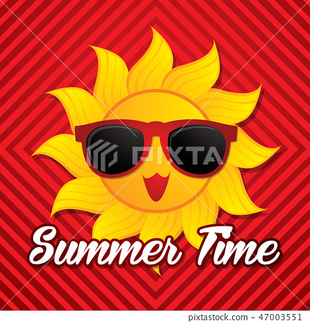 Summer time graphic vector. 47003551