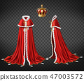 Medieval monarch royal garment realistic vector 47003572