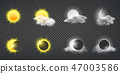 Sun and moon calendar vector icons collection 47003586