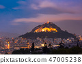Mount Lycabettus in Athens, Greece 47005238