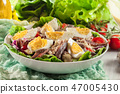 Nicoise Salad with tuna, anchovy, eggs and tomato 47005430
