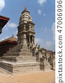 Kathmandu , Nepal : Durbar square in Bhaktapur Kathmandu, Nepal. Bhaktapur is one of UNESCO World 47006996