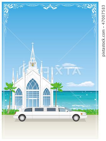 有一個教堂豪華轎車框架 47007583