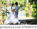 คู่,งานแต่งงาน,เดรส 47009478