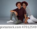 Cute young hispanic couple 47012549
