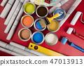 acrylic, brush, bucket 47013913