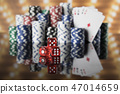 Casino background and Poker Chips 47014659