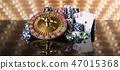 Poker Chips, Casino roulette wheel 47015368
