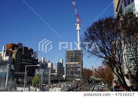 Shibuya redevelopment of Miyashita Park under construction with Meiji Dori 47016817