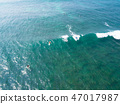 Aerial viewsurfers paddling for catching waves  47017987