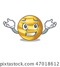 Grinning planet ray venus above sky cartoon 47018612