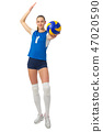 Young woman volleyball player 47020590