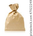 Brown paper bag isolated on white background 47022249