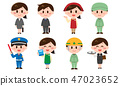 Recruitment · People of various occupations (male / female) set 47023652