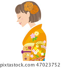 成人儀式女側身 47023752