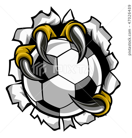 Soccer Ball Eagle Claw Talons Tearing Background 47026489