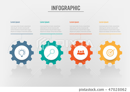 Business infographic template with 4 options 47028062