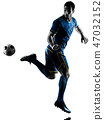soccer player man silhouette isolated  47032152