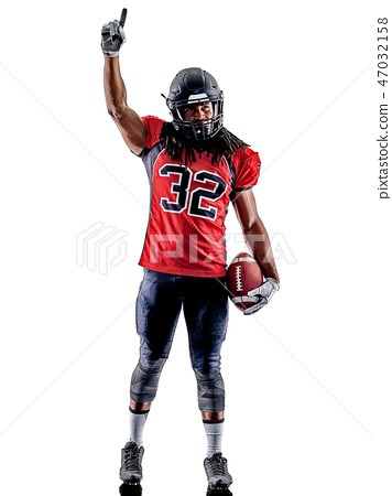 american football player man isolated 47032158
