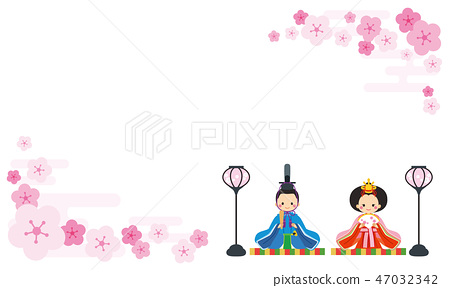 簡單的Hina娃娃[桃花框] 47032342