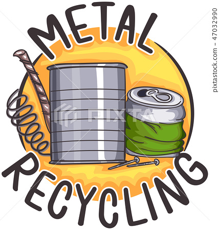 Metal Recycling Icon Illustration 47032990
