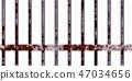 鮮豔細緻的鐵窗柵欄特寫材質紋理背景,正視圖(無縫接圖,高分辨率 3D CG 渲染∕著色插圖) 47034656