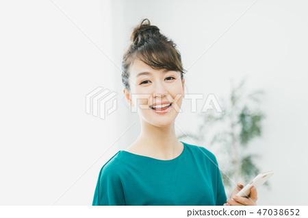 웃는 얼굴, 미소, 스마트폰 47038652