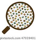 흙 団粒 구조 돋보기 굵은 모래 벡터 소재 색상 47039401