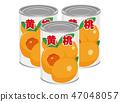 罐装桃子黄色桃子桃子例证 47048057