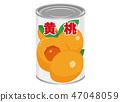 罐装桃子黄色桃子桃子例证 47048059