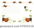 抹茶和茶道摺痕和角落裝飾 47050316
