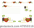 Matcha and tea ceremony creases and corner decorations 47050316