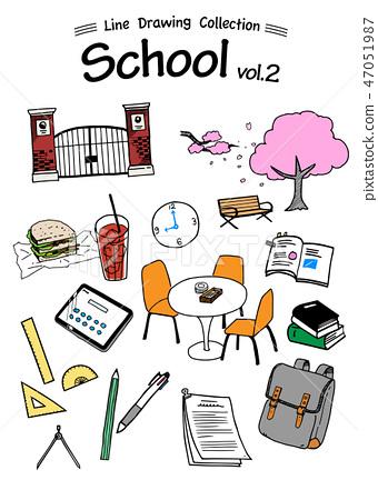 學校兩線製圖集-彩色 47051987