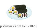 Hand-painted sushi rolls Assorted 47053073
