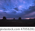 Dawn breaks over Monument Valley National Monument 47056281