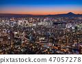 """""""日本的最佳景觀""""東京的夜景 - 富士山的景色""""從天空樹觀景台"""" 47057278"""