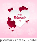 Happy Valentine's Day on a pink background 47057460