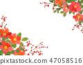 梅花和玫瑰框架 47058516